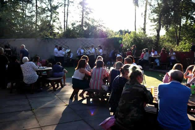 Sponsors Night in beer garden